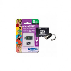 Card Integral MicroSD 8GB cu cititor de carduri - Card memorie