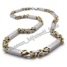 Lant INOX placat model Versace Meandros= 70 ron - Lantisor placate cu aur