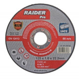 Disc pentru taiere metal inox 115 x 1 mm Raider PRO