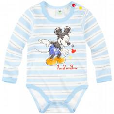 Body cu maneca lunga Disney Mickey albastru ciel