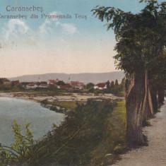 CARANSEBES, VEDERE SPRE CARANSEBES DIN PROMENADA TEUS, CIRCULATA 1926 - Carte Postala Banat dupa 1918, Printata