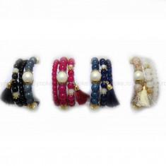 Bratara Summer Pearls (Culoare: negru) - Bratara Fashion