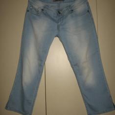 Blugi 3/4 Zenet Jeans, frumosi Mar 30 - Blugi dama, Culoare: Bleu, Drepti, Joasa