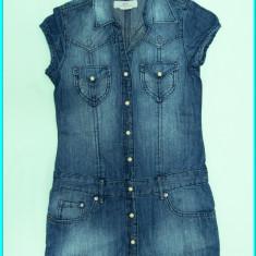 DE FIRMA _ Rochie chic, denim de calitate, H&M _ fete | 11-12 ani | 152, Marime: Alta, Culoare: Bleumarin