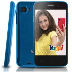 Smartphone cu control parental Evolio, Albastru, 4GB, Neblocat, Dual core, 512 MB