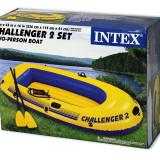 Set Barca pneumatica gonflabila CHALLENGER 2 + vasle si pompa /  INTEX 68367