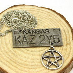 Pandantiv / Colier / Lantisor / Medalion SUPERNATURAL DEAN Placuta Masina KAZ - Pandantiv fashion