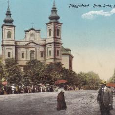 ORADEA, BISERICA ROMANO - CATOLICA, CIRCULATA 1916 - Carte Postala Crisana dupa 1918, Printata