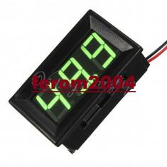 Ampermetru digital cu leduri verzi si carcasa, 100A, foarte precis, 3 digit