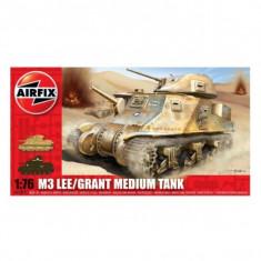 Kit Modelism Airfix 01317 Tanc M3 Lee/Grant Medium Tank Scara 1:76 - Set de constructie