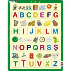 Puzzle Alfabetul Limbii Romane Cu Imagini, 29 Piese Larsen