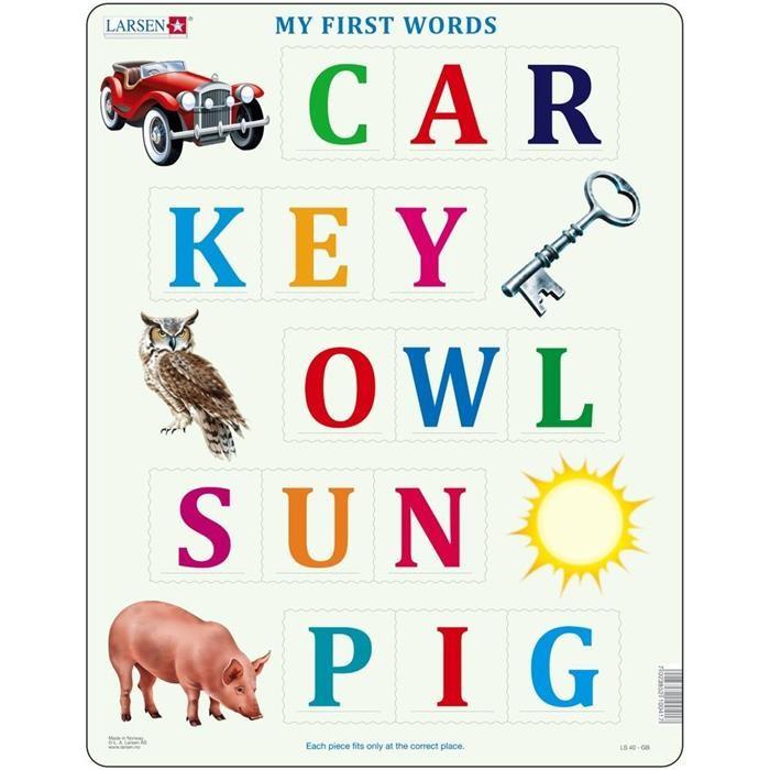 Puzzle Primele Cuvinte In Limba Engleza, 15 Piese Larsen