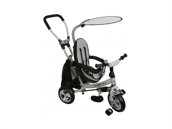 Tricicleta Copii Cu Scaun Reversibil Baby Mix Safari Ws611 Gri foto mare