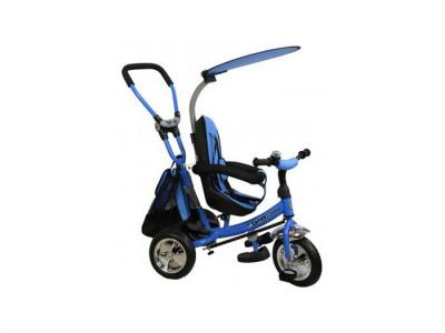 Tricicleta Copii Cu Scaun Reversibil Baby Mix Safari Ws611 Albastru foto