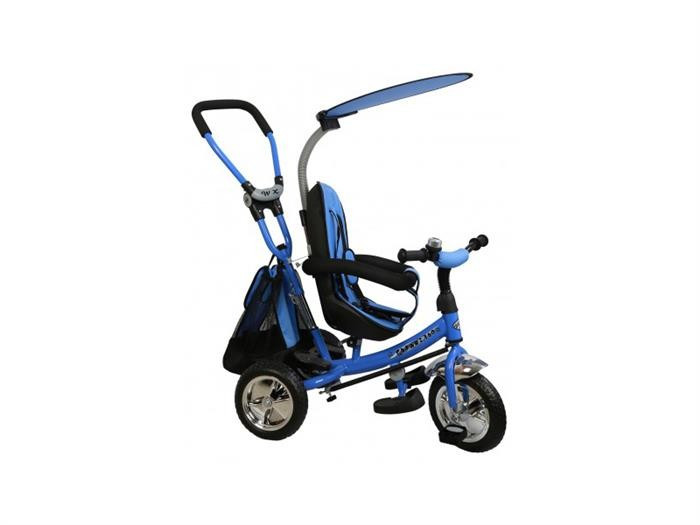 Tricicleta Copii Cu Scaun Reversibil Baby Mix Safari Ws611 Albastru foto mare