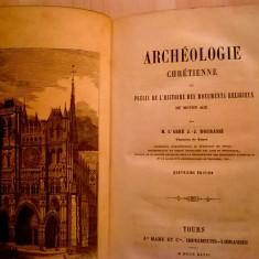 M. L'Abbe, J.-J. Bourasse - Archeologie Chretienne {1847} - Carte Literatura Franceza