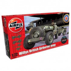 Kit Automodele Airfix 02339 Masina Willys British Airborne Jeep Scara 1:72 - Set de constructie