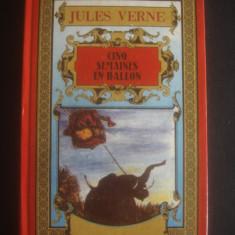 JULES VERNE - CINO SEMAINES EN BALLON * CINCI SAPTAMANI IN BALON, limba franceza