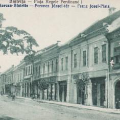 BISTRITA, PIATA REGELE FERDINAND I - Carte Postala Transilvania dupa 1918, Necirculata, Printata