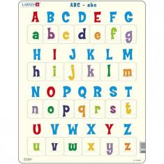 Puzzle Alfabetul Limbii Engleze Cu Majuscule Si Minuscule, 26 Piese Larsen