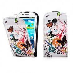 Toc FlipCase Colour Butterfly Nokia Lumia 520 - Husa Telefon, Alb