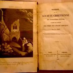 J.-L. Genin - Tableaux de la Societe Chretienne au quatrieme {1842} - Carte Literatura Franceza