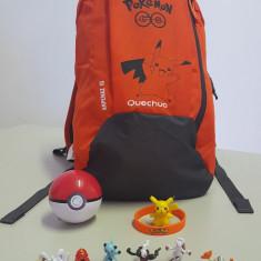 Ghiozdan POKEMON GO - KIT Rucsac Pikachu + POKEBALL + 12 x Pokemoni + BRATARA, Unisex, Portocaliu