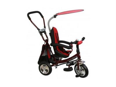 Tricicleta Copii Cu Scaun Reversibil Baby Mix Safari Bordo foto