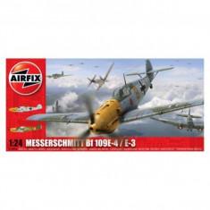 Kit Aeromodele Airfix 12002A Avion Messerschmitt Bf109e-4/E-3 Scara 1:24 - Jocuri Seturi constructie