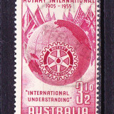 "Timbre AUSTRALIA 1995 = ANIV. 50 ANI ""ROTARY"" INTERNATIONAL - Timbre straine, Stampilat"