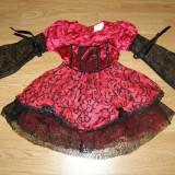 Costum carnaval serbare vrajitoare printesa regina pentru copii de 3-4 ani - Costum Halloween, Marime: Masura unica, Culoare: Din imagine