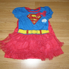 Costum carnaval serbare supergirl pentru copii de 2-3 ani - Costum Halloween, Marime: Masura unica, Culoare: Din imagine