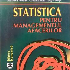 STATISTICA PENTRU MANAGEMENTUL AFACERILOR - A. Isaic-Maniu, C. Mitrut, Voineagu - Carte Management