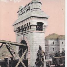 CERNAVODA, PODUL REGELE CAROL I LA CERNAVODA, CIRC. 1917, K.u.K. FELDPOST - Carte Postala Dobrogea 1904-1918, Circulata, Printata