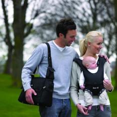 Geanta Multifunctionala Messenger, Negru - Geanta plimbare copii