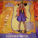 Costum carnaval serbare vrajitoarea toamnei pentru copii de 2-3-4 ani - Costum Halloween, Marime: Masura unica, Culoare: Din imagine