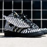 Adidas Jeremy Scott Wings Opart - marimile 40 2/3, 41 1/3 , 44, Negru, Nero, Piele naturala