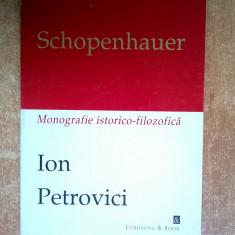 Ion Petrovici - Schopenhauer - Filosofie