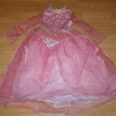 Costum carnaval serbare printesa aurora pentru copii de 6-7 ani - Costum Halloween, Marime: Masura unica, Culoare: Din imagine