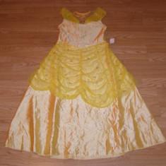 Costum carnaval serbare printesa belle pentru copii de 7-8 ani - Costum Halloween, Marime: Masura unica, Culoare: Din imagine