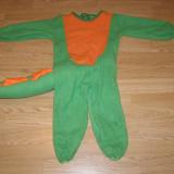 Costum carnaval serbare crocodil pentru copii de 2-3-4 ani - Costum Halloween, Marime: Masura unica, Culoare: Din imagine