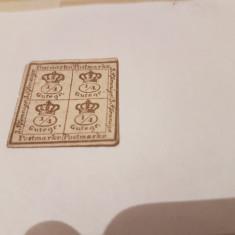 Germania/braunschweig 1857 coroana / nestamp, Nestampilat