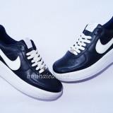 ADIDASI NIKE AIR FORCE 1 INDIGO/ALB L - Adidasi dama Nike, Culoare: Din imagine, Marime: 36, 38, 40, Piele sintetica
