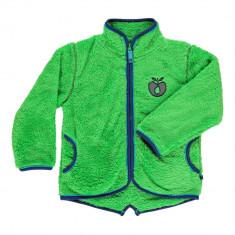 Jacheta fleece Smafolk, cu fermoar, unisex, verde, 3-4 ani