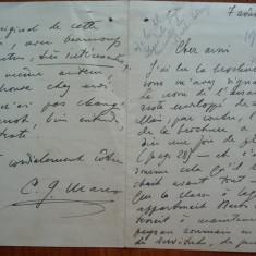 Scrisoare a lui Constantin George Manu, diplomat, catre Al. Lapedatu, 1933 - Autograf