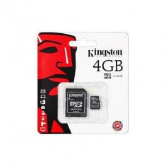 Card De Memorie Kingston micro SDHC Card 4GB + SD Adapter - Card memorie
