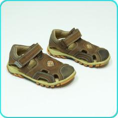 Pantofi DIN PIELE, aerisiti, comozi, practici, BÄREN SCHUHE _ baieti | nr. 27 - Pantofi copii, Culoare: Maro, Marime: 35, Piele naturala