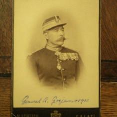 Fotografie General August Gorjan (n. 1 august 1837, Vălenii de Munte, judeţul Prahova - d. 20 mai 1900, Viena, Austria) - Harta Europei
