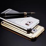 Bumper aluminiu Mirror Case Samsung Galaxy S6 GOLD