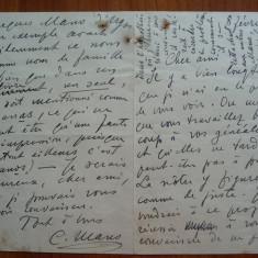 Scrisoare a lui Constantin George Manu, diplomat din familie de boieri, 1937 . - Autograf